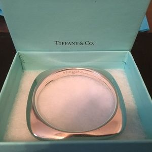 "Tiffany & Co 3"" Square Shaped Knife Edge Bangle"